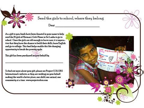 Send girls to school